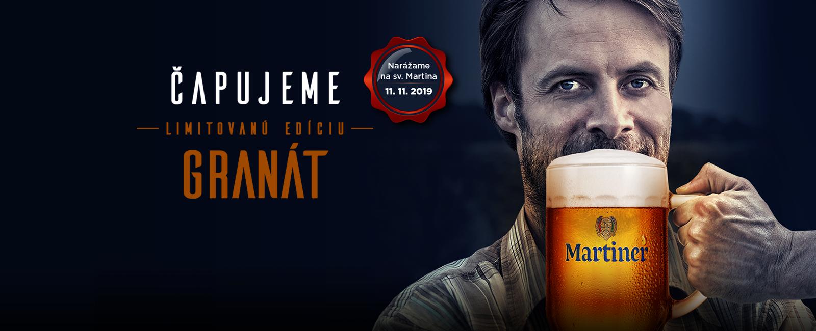Kvalitné slovenské pivo | Martiner granát